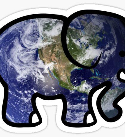 Trippy Elephant Earth Sticker