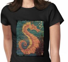 Mystical Horse of the Sea the Seahorse Vintage Womens Fitted T-Shirt
