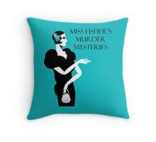 Miss Fisher's Murder Mysteries Throw Pillow