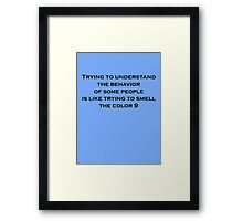 Smell the Color Nine Framed Print