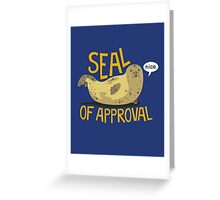 Seal of Approval Greeting Card