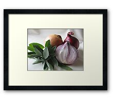 Sage & Onion Framed Print