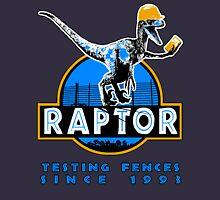 Raptor. Testing the fences since 1993 ('Blue' edition). Unisex T-Shirt