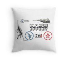 Mass Effect cross stitch sampler Throw Pillow