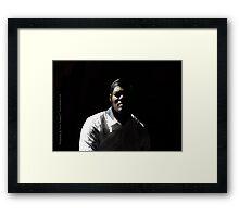 black male Framed Print