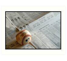 I love baseball Art Print