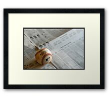 I love baseball Framed Print