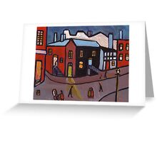 A manchester street scene   Greeting Card