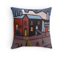 A manchester street scene   Throw Pillow