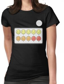 Healthcare Companion Pain Scale Womens Fitted T-Shirt