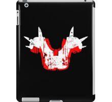 Shoulder Pads of Doom 2000 Design (Black) iPad Case/Skin