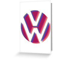VW Tri Logo Greeting Card