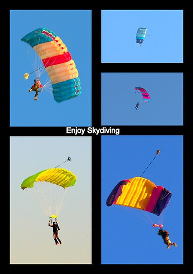 Skydiving Collage by Clive