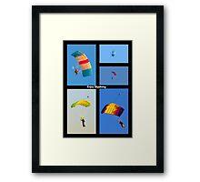 Skydiving Collage Framed Print