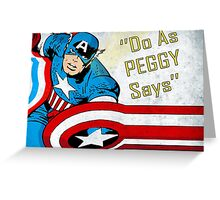 do as peggy says Greeting Card