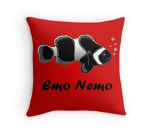 Emo Nemo Throw Pillow