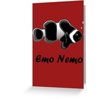 Emo Nemo Greeting Card