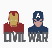 Marvel's Civil War -  Iron Man vs. Captain America T-Shirt