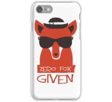 Zero Fox Given iPhone Case/Skin