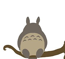 Totoro on a branch by simbah