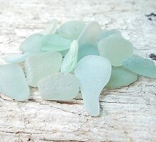 Sea Foam Sea Glass Bright and Pale by Teresa Schultz