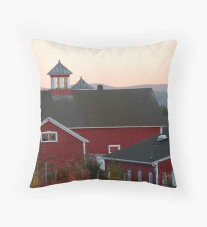Sunset Barns Throw Pillow