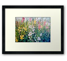 Flowers from a Catalog Framed Print