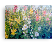 Flowers from a Catalog Canvas Print
