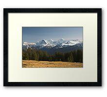 Eiger, Mönch, Jungfrau Framed Print