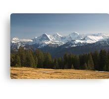 Eiger, Mönch, Jungfrau Canvas Print