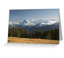 Eiger, Mönch, Jungfrau Greeting Card