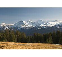 Eiger, Mönch, Jungfrau Photographic Print