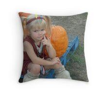 Abby as an Little Indian Girl Throw Pillow
