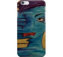 She Smeared Her Lipstick  iPhone Case/Skin
