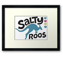 Team Salty Roos Framed Print