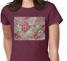 Patch design Womens Fitted T-Shirt