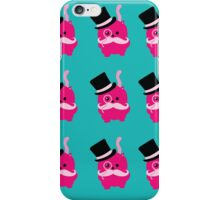 Moustaches, Monocles and Meows- A Page of Tiny Stickers iPhone Case/Skin