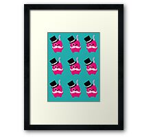 Moustaches, Monocles and Meows- A Page of Tiny Stickers Framed Print