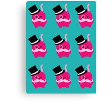 Moustaches, Monocles and Meows- A Page of Tiny Stickers Canvas Print