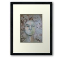 Faces - Portrait In Black And White Framed Print
