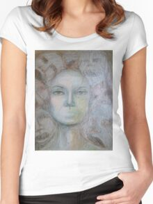 Faces - Portrait In Black And White Women's Fitted Scoop T-Shirt
