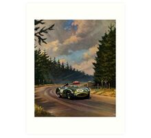 Aston Martin DBR1 - Vintage Racing Car Advertising Print - reproduction Art Print