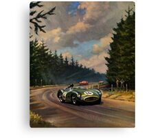 Aston Martin DBR1 - Vintage Racing Car Advertising Print - reproduction Canvas Print