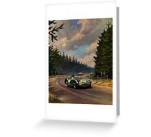 Aston Martin DBR1 - Vintage Racing Car Advertising Print - reproduction Greeting Card