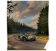 Aston Martin DBR1 - Vintage Racing Car Advertising Print - reproduction Poster