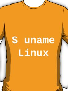 uname Linux - The only true answer - Dark -T-Shirt T-Shirt