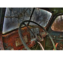 Inside The Cab Photographic Print