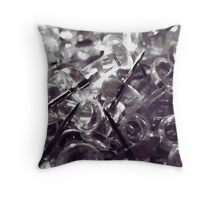 Push Pins Waiting for Employment Throw Pillow