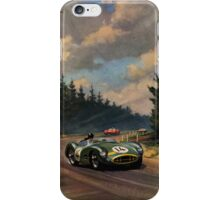 Aston Martin DBR1 - Vintage Racing Car Advertising Print - reproduction iPhone Case/Skin