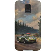 Aston Martin DBR1 - Vintage Racing Car Advertising Print - reproduction Samsung Galaxy Case/Skin
